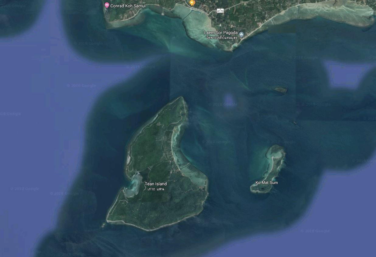 15 Rai beach front land with 300 meters beach front in Koh Tean.: 15 Rai beach front land with 300 meters beach front in Koh Tean.
