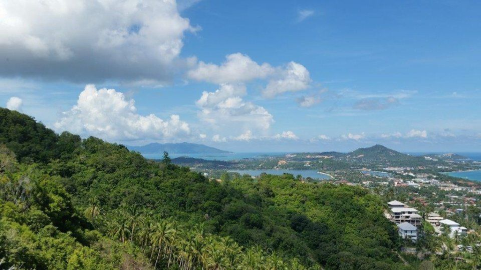 Hill Top Land with Sea Views in Chaweng Noi