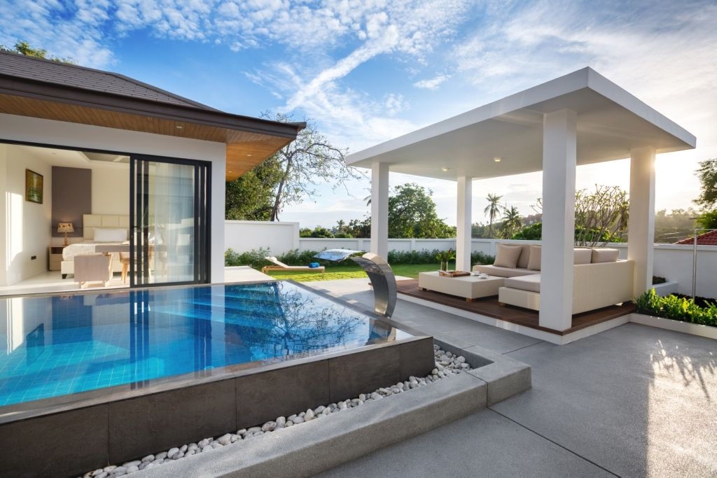"Villa ""3 bedroom villa (Type B) for sale in «Sunway Villas» complex"" 3 bedrooms, 3 showers, garden, private pool, walking distance to the beach, district Choeng Mon, sale for 14 000 000 baht"