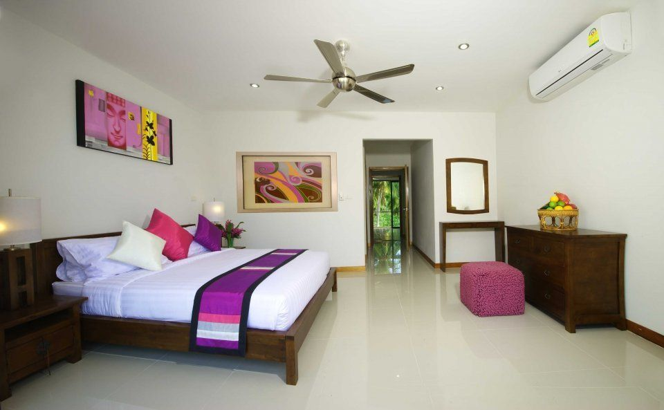 Accommodation close to the beach in Choengmon Gardens townhouse complex (Choeng Mon)