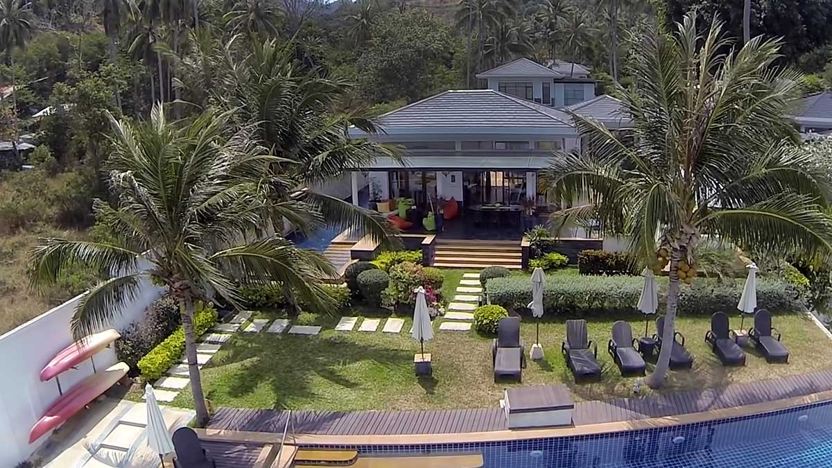 Villa with five bedrooms on Bang Po beach