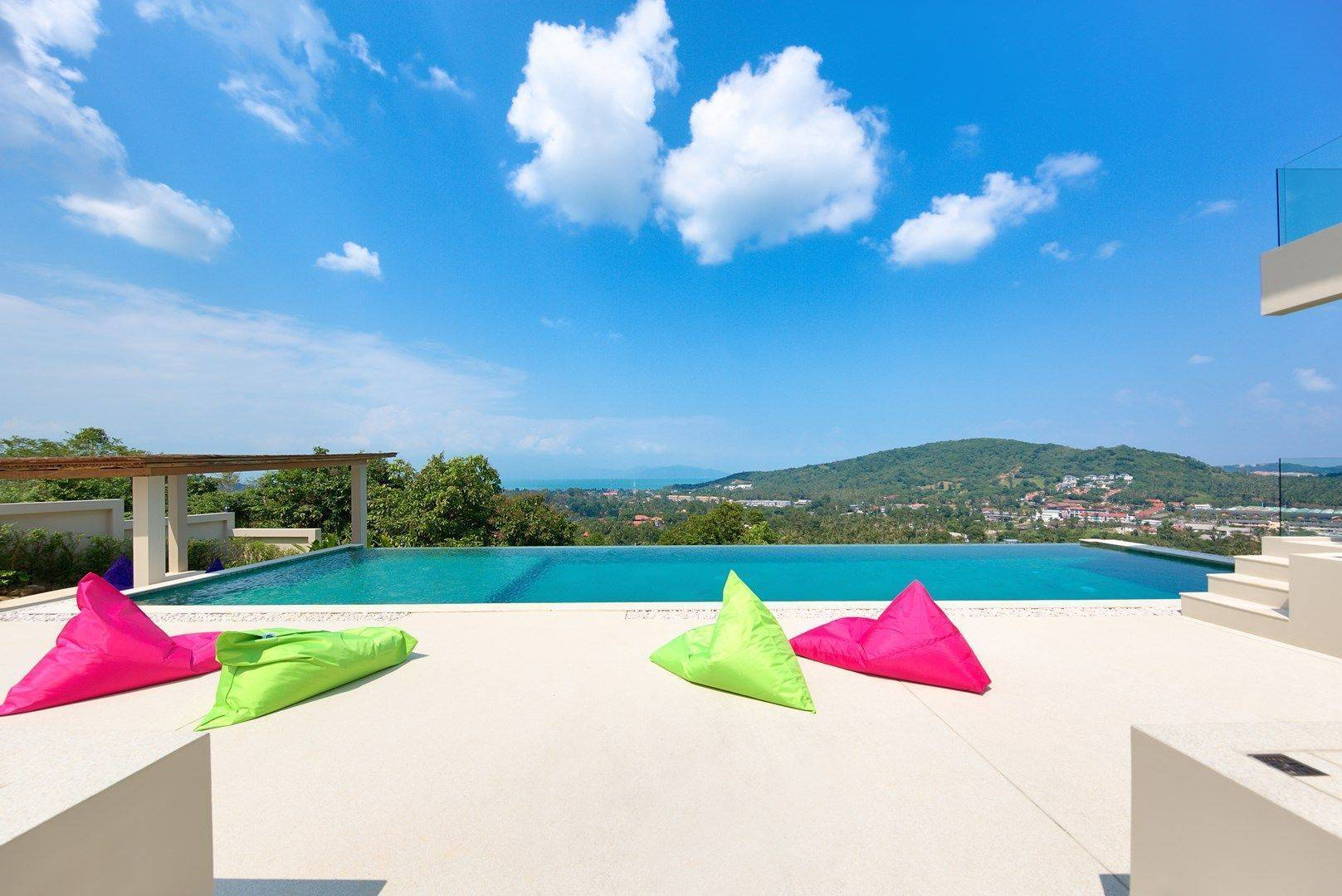 6 bedrooms luxurious panoramic sea view Villa in Bophut
