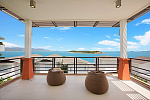 Six Hills 4 Bedroom Villa with Panoramic View of the Gulf of Thailand: Six Hills villa for rent, master bedroom, sea view