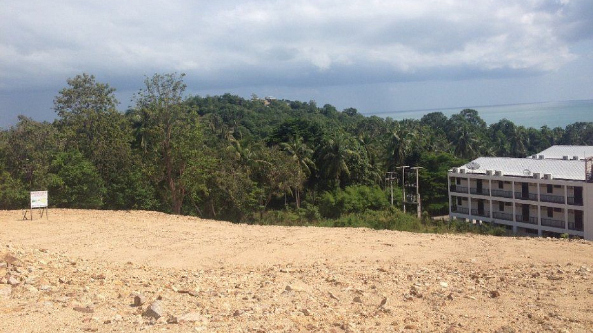 Several adjoining plots with sea views for sale (Chaweng)