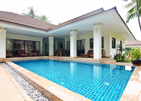 "Villa ""Baan Leelavadee - spacious 3 bedroom family villa for sale in Maenam"" 3 bedrooms, garden, private pool, district Maenam, sale for 9 750 000 baht"