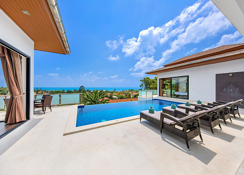 "Villas ""4 Bedroom Sunny Banks Villa For Sale in Lamai"" 4 bedrooms, private pool, sea view, district Lamai, sale for 16 500 000 baht"