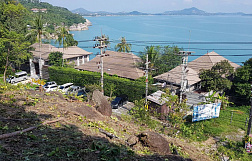"Land ""Beautiful piece of 8.5 rai land just off the road with perfect sea view"" sea view, walking distance to the beach, district Chaweng Noi, sale for 76 500 000 baht"
