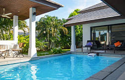 "Villa ""2 bedroom Villa Cannes for sale in Horizon Villas"" 2 bedrooms, garden, gym, private pool, walking distance to the beach, district Choeng Mon, sale for 12 000 000 baht"