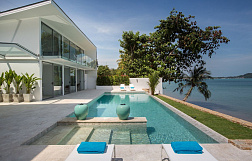 "Villa ""The ultimate luxury beach front villa for sale 600 m from Fisherman's Village  "" 3 bedrooms, beachfront, private pool, district Bang Rak, sale for 65 000 000 baht"