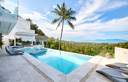 "Villa ""Stylish sea view villa for sale in Bophut Hills"" 5 bedrooms, private pool, sea view, district Bophut, sale for 25 000 000 baht"
