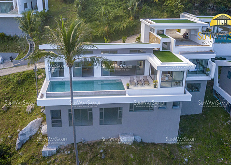 "Villa ""Villa Ultra – Brand new hillside 4 Bedroom Villa for sale in Chaweng Noi."" 4 bedrooms, private pool, sea view, district Chaweng Noi, sale for 21 900 000 baht"