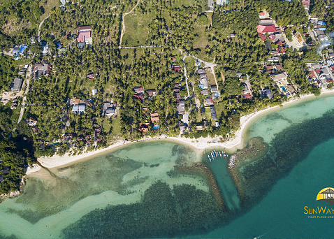 "Land ""Rare beach front plot of land with stunning sunset views for sale "" beachfront, district Taling Ngam, sale for 35 000 000 baht"