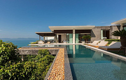 "Villa ""World renowned designer four bedroom seaview villa for sale in Koh Samui"" 4 bedrooms, garden, private pool, sea view, district Bang Por, sale for 75 000 000 baht"