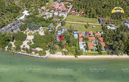"Land ""Beachfront Lipanoi land for sale with house and bungalows"" beachfront, district Lipa Noi, sale for 70 000 000 baht"
