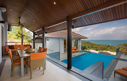 "Villa ""Villa Ganesh at Horizon Villas"" 3 bedrooms, gym, private pool, sea view, walking distance to the beach, district Choeng Mon, sale for 21 000 000 baht"