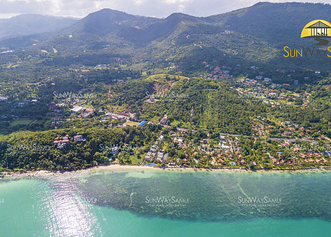 "Land ""7 Rai beachfront land for sale in Baan Tai "" beachfront, district Baan Tai, sale for 133 000 000 baht"