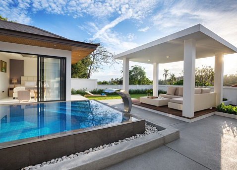 "Villa ""3 bedroom villa in Sunway Villas with 5% net annual guaranteed ROI"" 3 bedrooms, 3 showers, garden, private pool, walking distance to the beach, district Choeng Mon, rent from 12 900 000 baht"