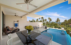 "Villa ""Bang Rak Pool Villa"" 3 bedrooms, garden, private pool, sea view, walking distance to the beach, district Bang Rak, sale for 14 900 000 baht"