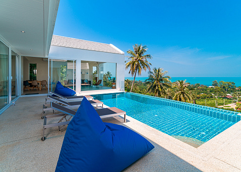 "Villa ""Affordable 4-5 Bedroom sea view villas for sale in Bang Por"" 5 bedrooms, garden, private pool, sea view, district Bang Por, sale for 8 000 000 baht"