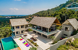 "Villa ""6 bedrooms luxurious panoramic sea view Villa in Bophut"" 6 bedrooms, garden, private pool, sea view, district Bophut, sale for 45 000 000 baht"