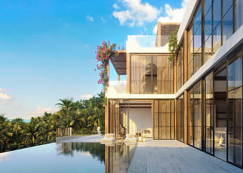 "Villa ""3 bedroom eco style sea view villas for sale in Chaweng Noi"" 3 bedrooms, 3 showers, private pool, sea view, view 360, district Chaweng Noi, sale for 18 000 000 baht"
